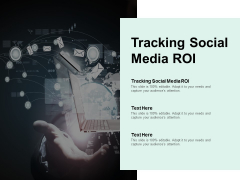 Tracking Social Media ROI Ppt PowerPoint Presentation Slides Summary Cpb