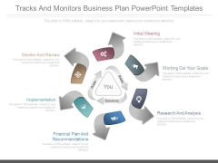 Tracks And Monitors Business Plan Powerpoint Templates