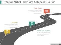 Traction What Have We Achieved So Far Ppt PowerPoint Presentation Picture