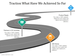 Traction What Have We Achieved So Far Ppt PowerPoint Presentation Portfolio Templates
