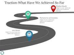 Traction What Have We Achieved So Far Ppt PowerPoint Presentation Visual Aids