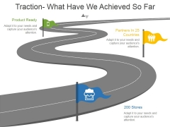 Traction What Have We Achieved So Far Ppt PowerPoint Presentation Visuals