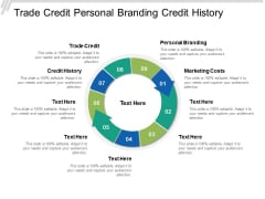 Trade Credit Personal Branding Credit History Marketing Costs Ppt PowerPoint Presentation Visual Aids Deck