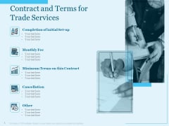 Trade Facilitation Services Contract And Terms For Trade Services Ppt Layouts Diagrams PDF