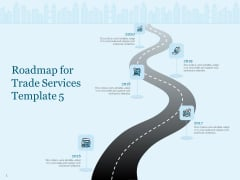 Trade Facilitation Services Roadmap For Trade Services 2016 To 2020 Ppt Portfolio Display PDF