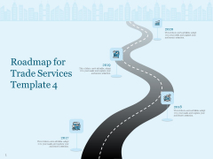 Trade Facilitation Services Roadmap For Trade Services 2017 To 2020 Ppt Layouts Show PDF