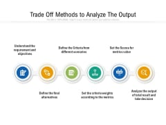 Trade Off Methods To Analyze The Output Ppt PowerPoint Presentation File Vector PDF