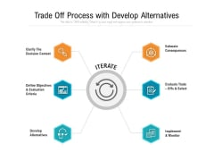 Trade Off Process With Develop Alternatives Ppt PowerPoint Presentation Icon Styles PDF