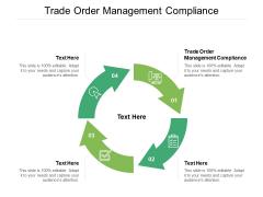 Trade Order Management Compliance Ppt PowerPoint Presentation Gallery Portfolio Cpb Pdf
