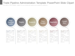 Trade Pipeline Administration Template Powerpoint Slide Clipart