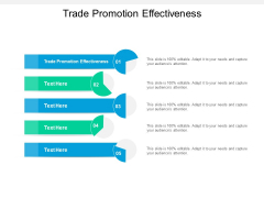 Trade Promotion Effectiveness Ppt PowerPoint Presentation Slides Graphics Cpb