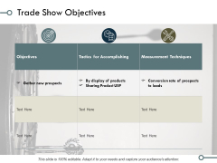 Trade Show Objectives Ppt PowerPoint Presentation Portfolio Icons