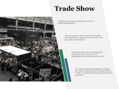 Trade Show Ppt PowerPoint Presentation Layouts Icons