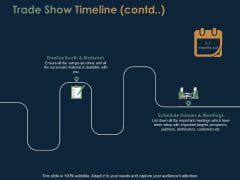 Trade Show Timeline Planning Ppt PowerPoint Presentation Portfolio Backgrounds