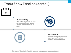Trade Show Timeline Technology Ppt PowerPoint Presentation Layouts Graphics Tutorials