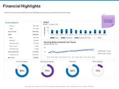 Trading Company Business Operational Plan Financial Highlights Brochure PDF