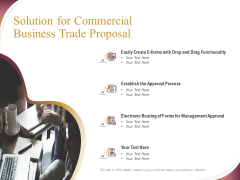 Trading Company Solution For Commercial Business Trade Proposal Ppt Pictures Show PDF