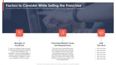 Trading Current Franchise Business Factors To Consider While Selling The Franchise Brochure PDF