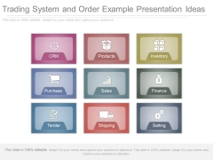 Trading System And Order Example Presentation Ideas