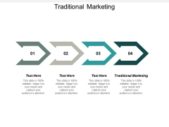 Traditional Marketing Ppt PowerPoint Presentation Visual Aids Styles Cpb