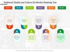 Traditional Studies And Culture Six Months Roadmap Sue Graphics