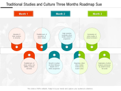 Traditional Studies And Culture Three Months Roadmap Sue Professional