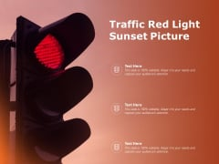 Traffic Red Light Sunset Picture Ppt PowerPoint Presentation Summary Templates