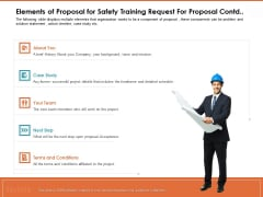 Train Employees Health Safety Elements Of Proposal For Safety Training Request For Proposal Contd Diagrams PDF