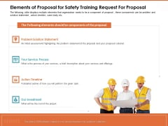 Train Employees Health Safety Elements Of Proposal For Safety Training Request For Proposal Rules PDF