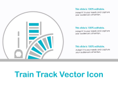 Train Track Vector Icon Ppt PowerPoint Presentation Styles Visuals PDF