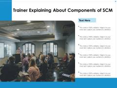 Trainer Explaining About Components Of SCM Ppt PowerPoint Presentation Portfolio Deck PDF