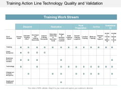 Training Action Line Technology Quality And Validation Ppt Powerpoint Presentation File Example