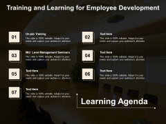 Training And Learning For Employee Development Ppt PowerPoint Presentation Visual Aids Ideas