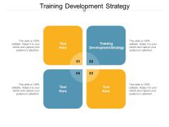 Training Development Strategy Ppt PowerPoint Presentation Professional Ideas Cpb