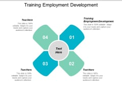 Training Employment Development Ppt PowerPoint Presentation Model Cpb