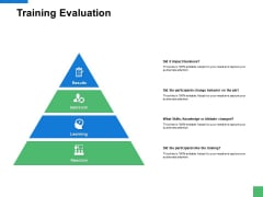 Training Evaluation Management Ppt PowerPoint Presentation Icon Brochure