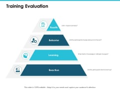 Training Evaluation Ppt PowerPoint Presentation Slides Ideas
