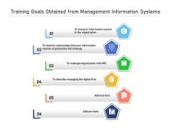 Training Goals Obtained From Management Information Systems Ppt PowerPoint Presentation Ideas Format Ideas PDF