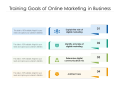 Training Goals Of Online Marketing In Business Ppt PowerPoint Presentation Inspiration Graphics Design PDF