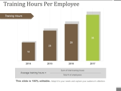 Training Hours Per Employee Ppt PowerPoint Presentation Professional Templates
