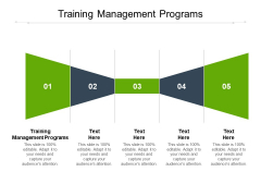 Training Management Programs Ppt PowerPoint Presentation Styles Format Ideas Cpb