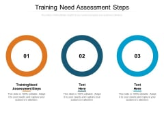 Training Need Assessment Steps Ppt PowerPoint Presentation Gallery Slide Portrait Cpb