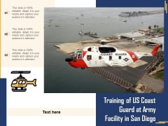 Training Of US Coast Guard At Army Facility In San Diego Ppt PowerPoint Presentation File Visuals PDF