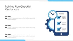 training plan checklist vector icon ppt outline aids pdf