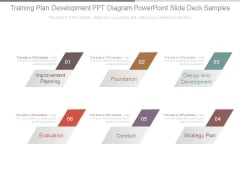 Training Plan Development Ppt Diagram Powerpoint Slide Deck Samples