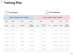Training Plan Evaluate Ppt PowerPoint Presentation Ideas Templates