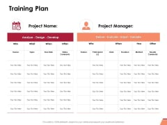 Training Plan Ppt PowerPoint Presentation Infographics Example