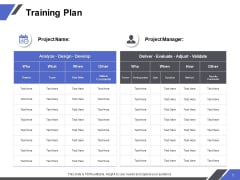 Training Plan Ppt PowerPoint Presentation Inspiration Template