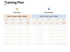 Training Plan Ppt PowerPoint Presentation Pictures Format