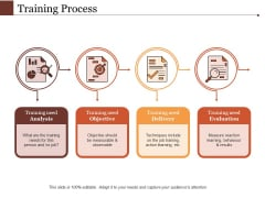 Training Process Ppt PowerPoint Presentation Slides Brochure